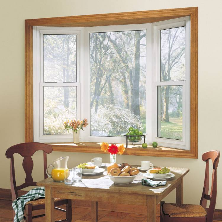 3 Panel Bay with Double Hung Windows