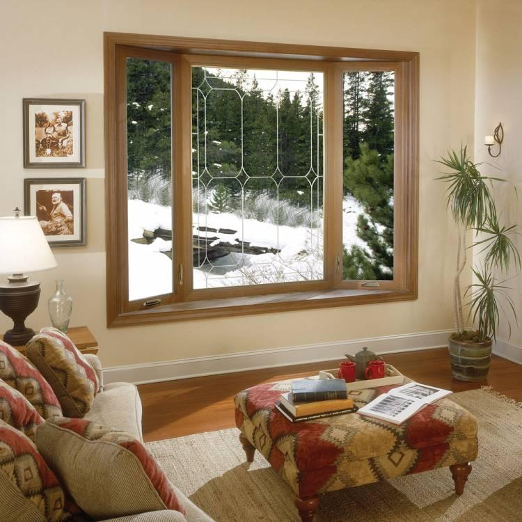 3 Panel Bay Window with Decorative Glass