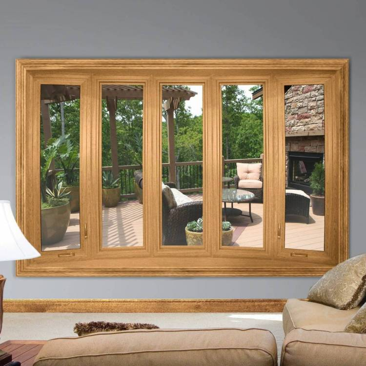 Family Room Casement Windows - Bow Windows