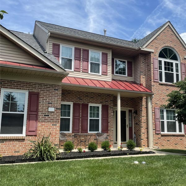 Alside Mezzo double hung windows and provia storm doors in collegeville pa