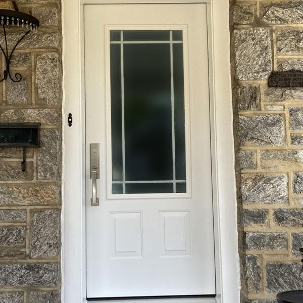 cream entry door in media pa