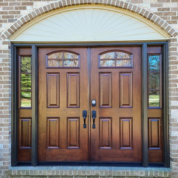 french wood entry doors with sidelites in north wales pa
