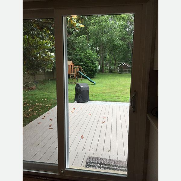 white sliding patio door in devon