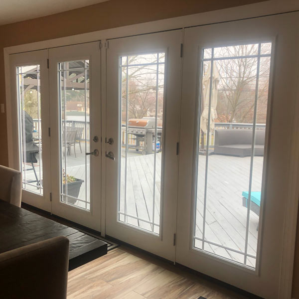 white patio doors with special glass in trooper pa